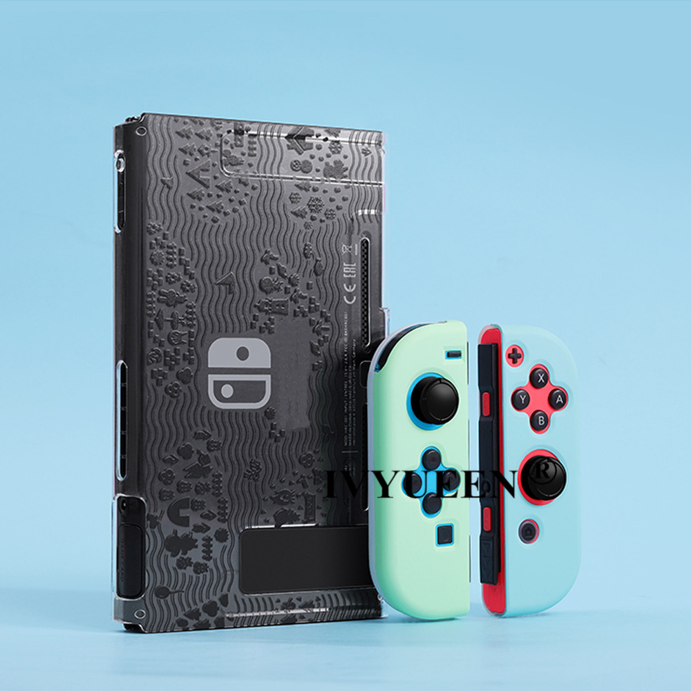 IVYUEEN For Nintend Switch NS Console Animals Crossing Protective Hard Case Shell For NintendoSwitch JoyCon Joy Con Back Cover