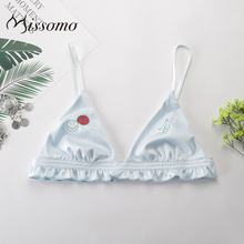 Missomo Lace Bras For Women Sexy VS BH Silk Bralet Modis Wide Push Up Bralette Brief Plus Size Backless Cup Brassiere Lingerie