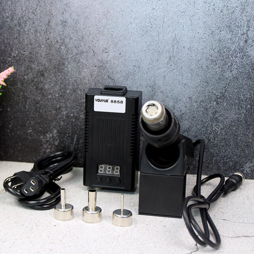 Mini Hot Air Gun Welding Platform Portable BGA Rework Solder Station Brushless Black YOUYUE 8858