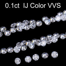 Loose Gemstones Moissanite IJ Color 0.1ct 0.1 Carat 3mm Clarity VVS Round Jewelry Bracelet Diamond Ring Material Loose Stones(China)