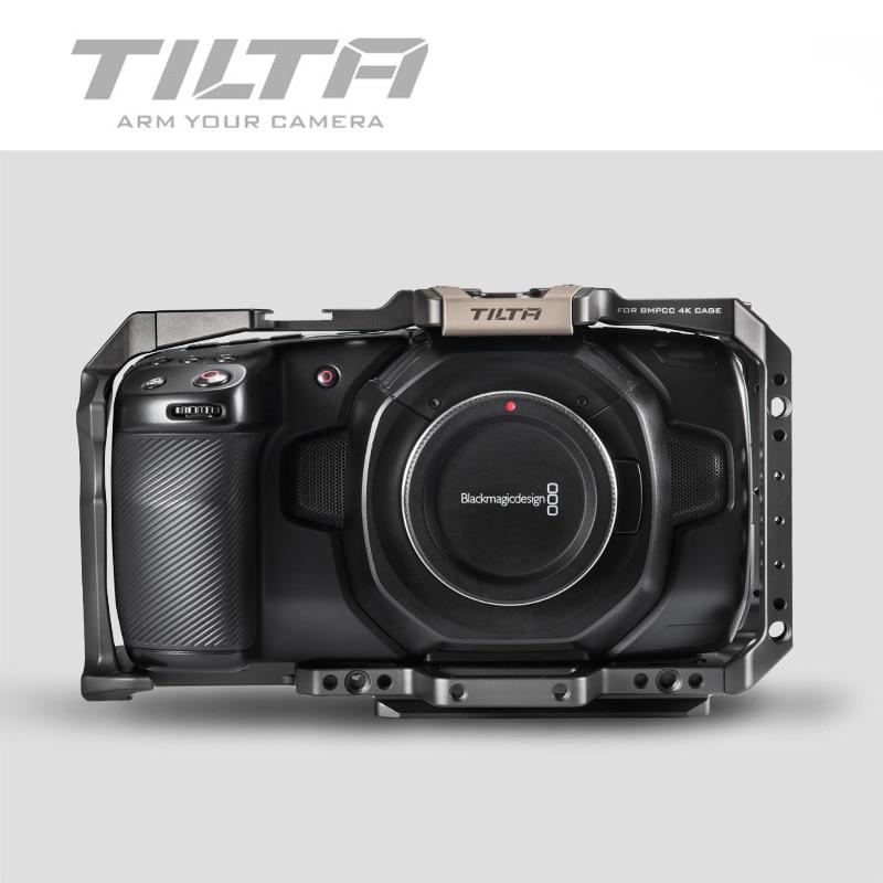 Image 5 - Tilta BMPCC 4K 6K Cage Full Cage Half cage SSD Drive Holder Top Handle Baseplate Sunhood for BlackMagic BMPCC 4K 6K AccessoriesPhoto Studio Accessories   -