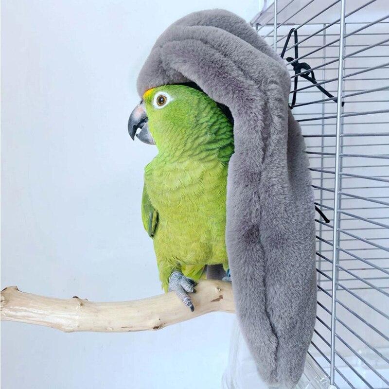 Winter Warm Bird Shawl Nest Corner Parrot Blanket Pet Small Animal Hanging Tent Cage Decoration for Parakeet Cockatiel