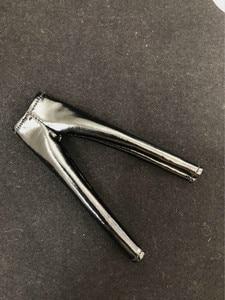 Image 4 - Масштаб 1/12, женские кожаные черные колготки, брюки для 6 дюймовых экшн фигурок TBLeague