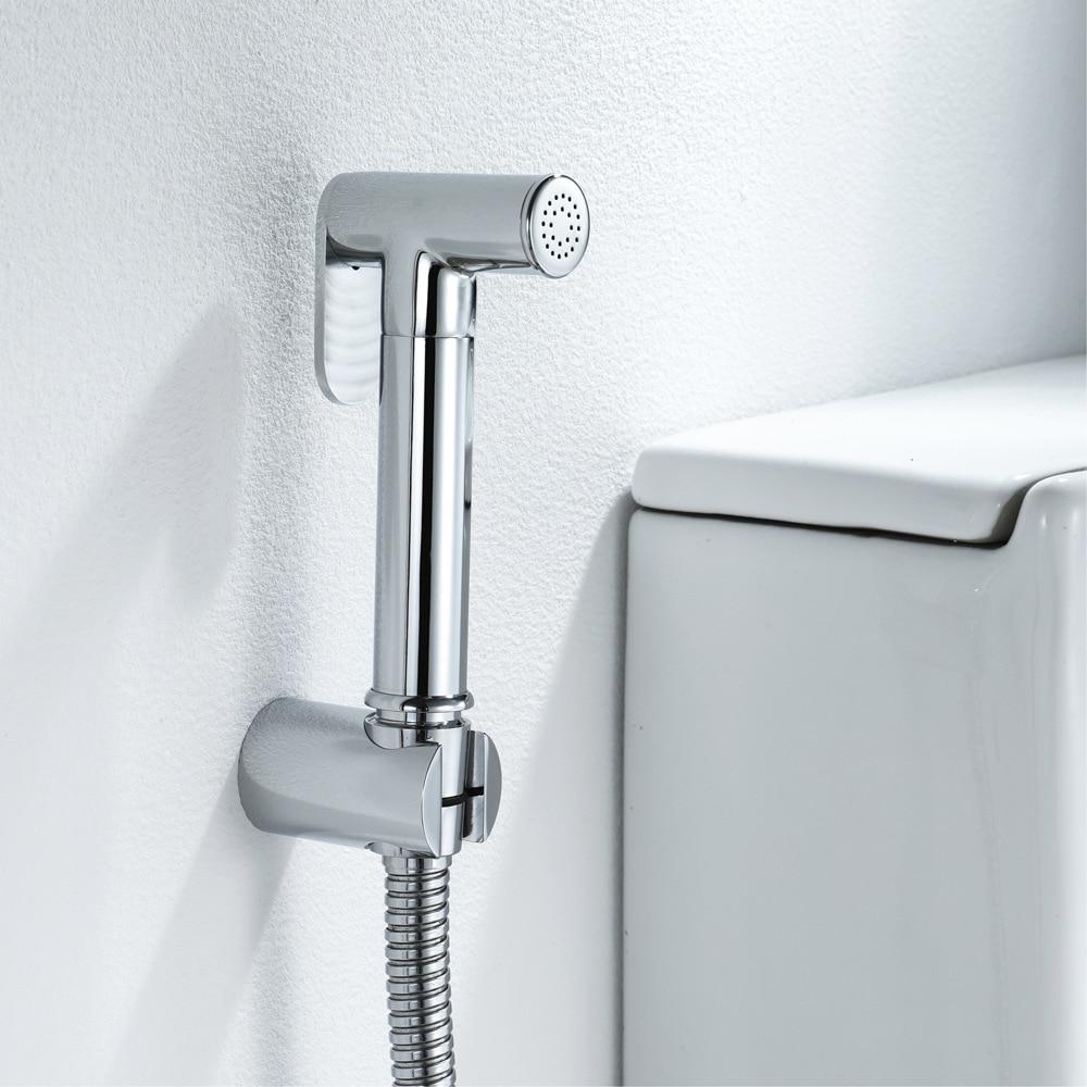 Hideep Fu To Wash Faucet Suit Brass Chrome Fu To Wash Spray Gun Chamber Pot Flushing Tap HI09035A