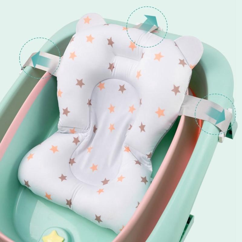 do recém-nascido apoio do banho travesseiro macio dobrável