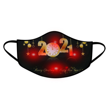 1Pcs Adult LED Mask 2021 Happy New Years Glowing Mask For Men And Women Light Up Mask Breathable Face Mask Fashion маска на рот image