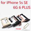 For iPhone 6 6 Plus Sim Card Tray Micro SD Holder Slot Sim Card Tray for iPhone 5 5s se with free Open Eject Pin Key