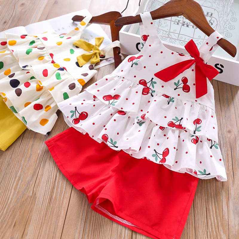 H17fb50d9917844d6a3321cb2189f6901f - Humor Bear Baby Girl Clothes Hot Summer Children's Girls' Clothing Sets Kids Bay clothes Toddler Chiffon bowknot coat+Pants 1-4Y
