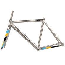 Tsunami 700c 6061-t6 alumínio quadro de engrenagem fixa e garfo fixie bicicleta quadro 49cm 52cm 55cm de alta qualidade peças de bicicleta conjunto de quadros