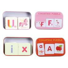 1 Set Toy Cognitive Card Funny Card Puzzle Game Educational Playthings Early Education Toys For Toddlers Students(China)