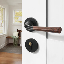 Black Interior Door Lock Door Handle for Bedroom Door Hardware Handles for Interior Door Chrome Gold Bathroom Lock 2018 limited time limited simple bedroom door lock solid wood toilet lock handle split bright chrome magnetic suction lock
