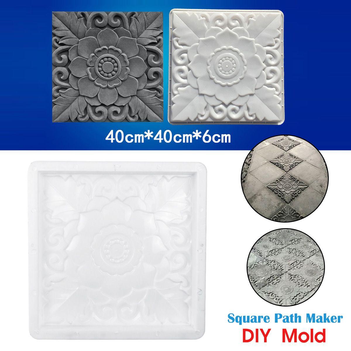 40 40cm  Maker Reusable Paving Mold DIY Concrete Cement Brick Stone Pavement Walk Mould Tool For Garden Decor