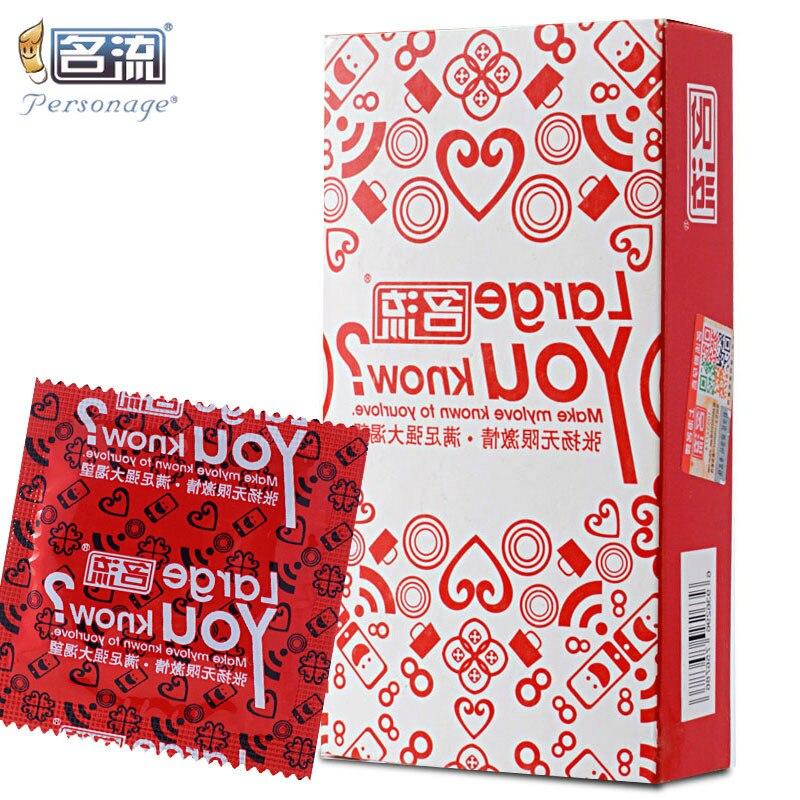 Персонаж 30 шт/20/10 шт. 55 мм Большой Размеры презервативы большие презервативы в виде для полового члена, создающий защитную пленку из натурал...