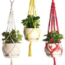 Ручная работа цветок корзина зеленый виноградная лоза горшок кашпо подвесной ваза контейнер стена растение корзина для сада дома на улице дома декор