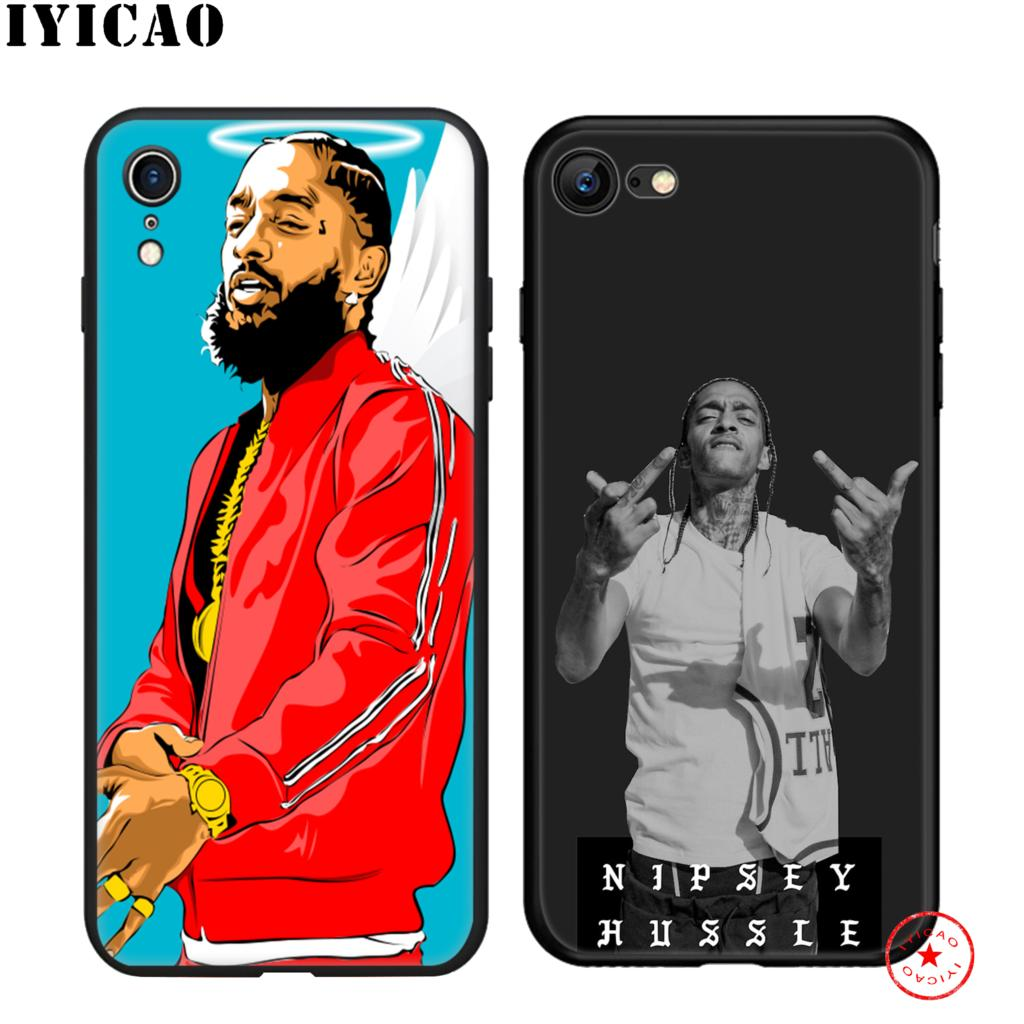 IYICAO Rapper Nipsey Hussle Soft Black Silicone Case for iPhone 11 Pro Xr Xs Max X or 10 8 7 6 6S Plus 5 5S SE in Fitted Cases from Cellphones Telecommunications
