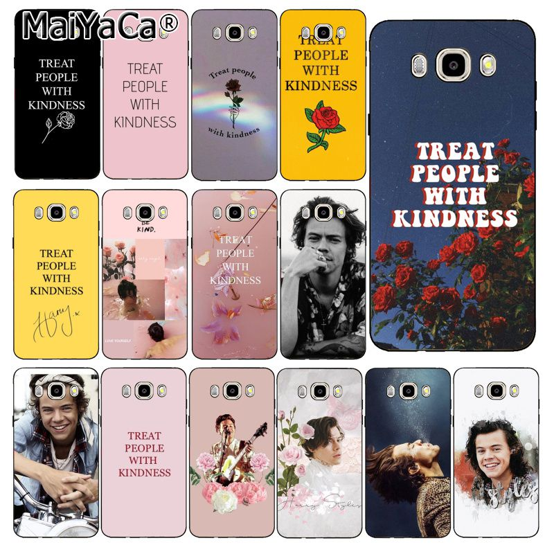 MaiYaCa <font><b>Harry</b></font> <font><b>Styles</b></font> Treat people with kindness <font><b>Phone</b></font> <font><b>Case</b></font> Cover For <font><b>Samsung</b></font> Galaxy J7 J6 J8 J4 J4Plus J7 DUO J7NEO J2 J7 Prime image