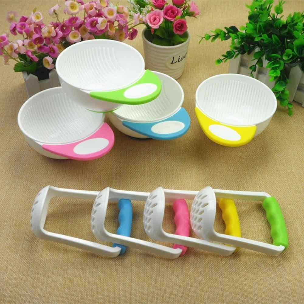Alimentos para bebê moinhos e recipiente tigela conjunto manual pratos de moagem de frutas do bebê recipientes de alimentos tigelas fabricante de alimentos para bebê ferramenta tigela de alimentação