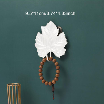 Leaves Shape Iron Hook Nordic Wall Decoration Leaf Key Watch Bags Jewelry Haning Hook Mutifuctional Wall Hanger Rack 19