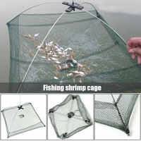 Hot Portable Folded Fishing Net Folded Baits Mesh Trap Durable for Shrimp Minnow Crayfish Shrimp Catcher Trap Cage Fish Network
