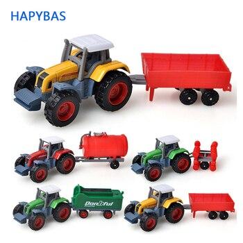 1 72 plástico abs agricultor carro modelo de brinquedo colheitadeiras de grãos trator fazenda carregador de grãos modelo educacional carro brinquedos para crianças