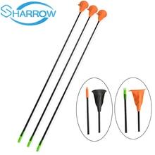 6PCS Children Sucker Arrows Fiberglass Suction Cup Kids Bow Archery Game Target Outdoor Shooting Gift