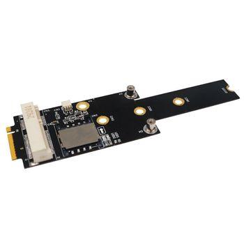M.2 NGFF key M to Mini PCI-E Adapter With SIM card Slot for WiFi/WWAN/LTE Module X6HA mini pci e 3g wwan gps module sierra mc7700 pci express 3g hspa lte 100mbp wireless wwan wlan card gps unlocked free shipping