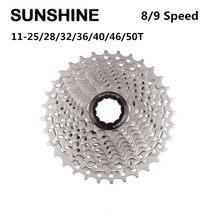 SUNSHINE Cassette Flywheel 8/9 Speed Freewheel MTB Road Bike Bicycle 25/28/32/36/40/42/46/50T Sprocket