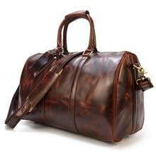 Men's Retro Leather Travel Bag Oil Leather Luggage