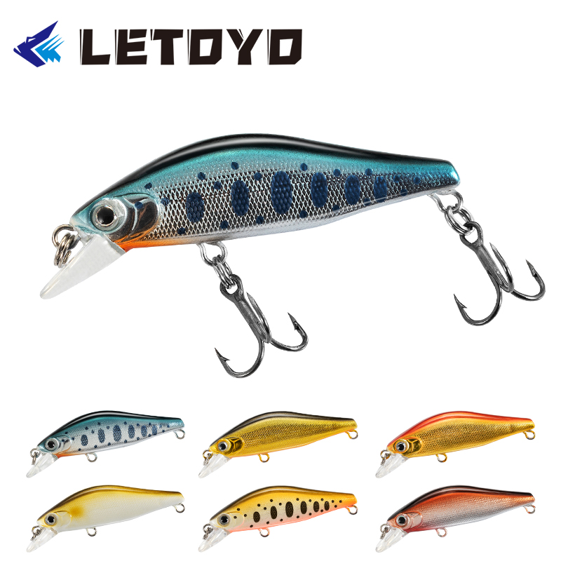 6PCS//Pack Swimbait 5cm//2.7g Minnow Fishing Lure Hook Tackle Hard Bait Wobbler