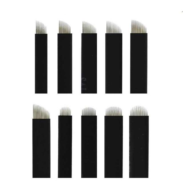 100pcs Microblading Needles 0.18mm multiple choice colorful pcd  Nano LAMINA MICRO  flex Blade For Tebori Manual Tattoo Pen 3