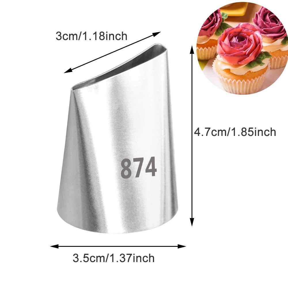 Grote Maat Rose Bloem Rvs Icing Piping Cake Nozzles Cream Decoratie Pastry Tips Cake Dessert Decorateurs Tool #874