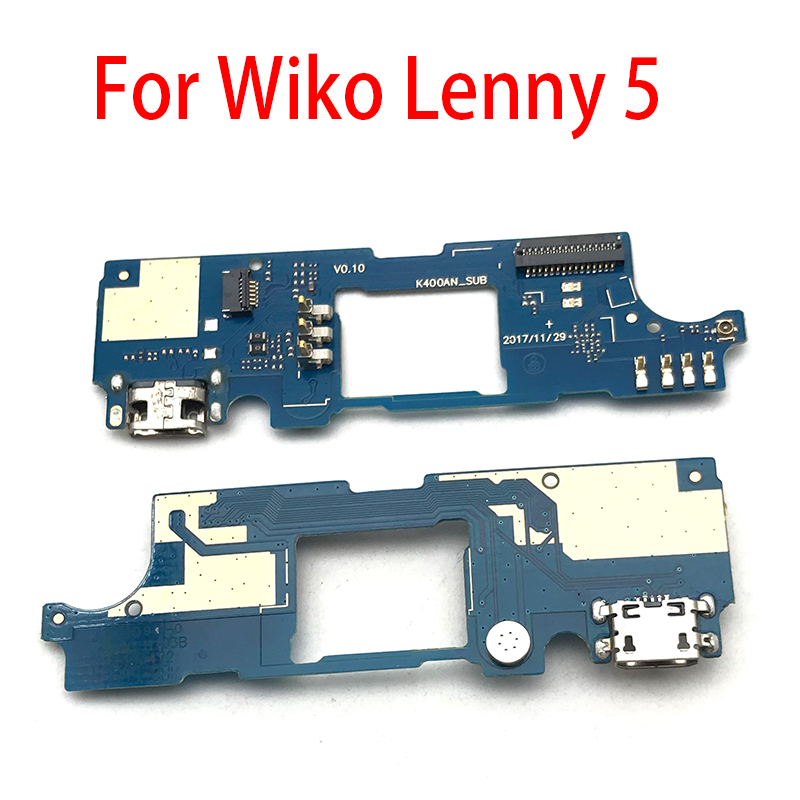 New USB Charging Port Mic Microphone Dock Connector Board Flex Cable For Wiko Lenny 5 Lenny5 Repair Parts