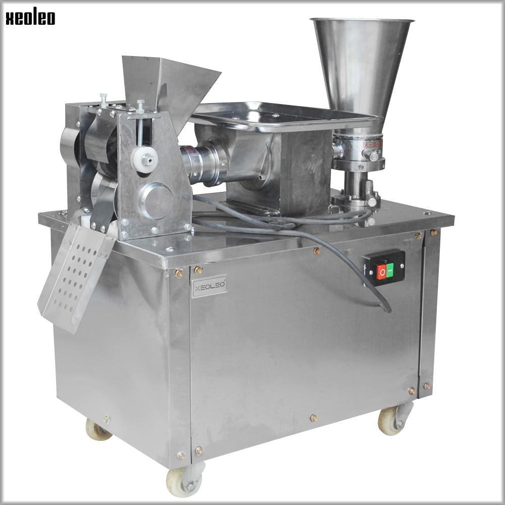 XEOLEO Dumpling Machine Samosa Making Machine Automatic Dumplings Maker 4800pcs/h Stainless Steel Dumpling Wrapper Machine 2200W