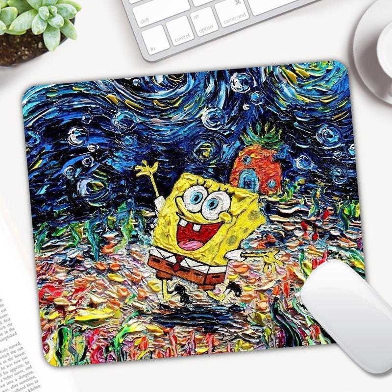 Cute SpongeBob Gaming Mouse Pad Computer Mousepad Rubber Desk Mice Mat For Laptop For LOL Dota 2