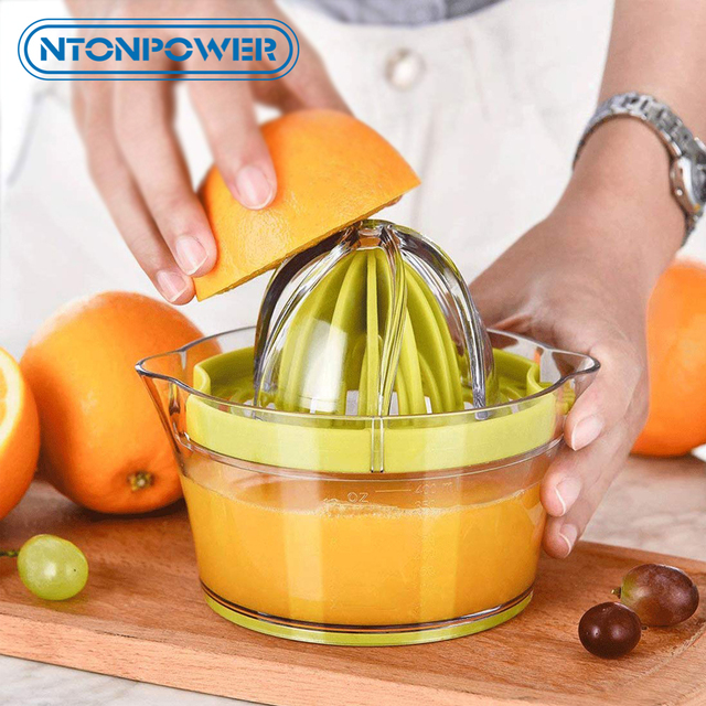 NTONPOWER 4 in 1 Multifunctional Lime Squeezer Manual Juicer with Multi Size Reamers Ginger Garlic Grater Kitchen Accessories