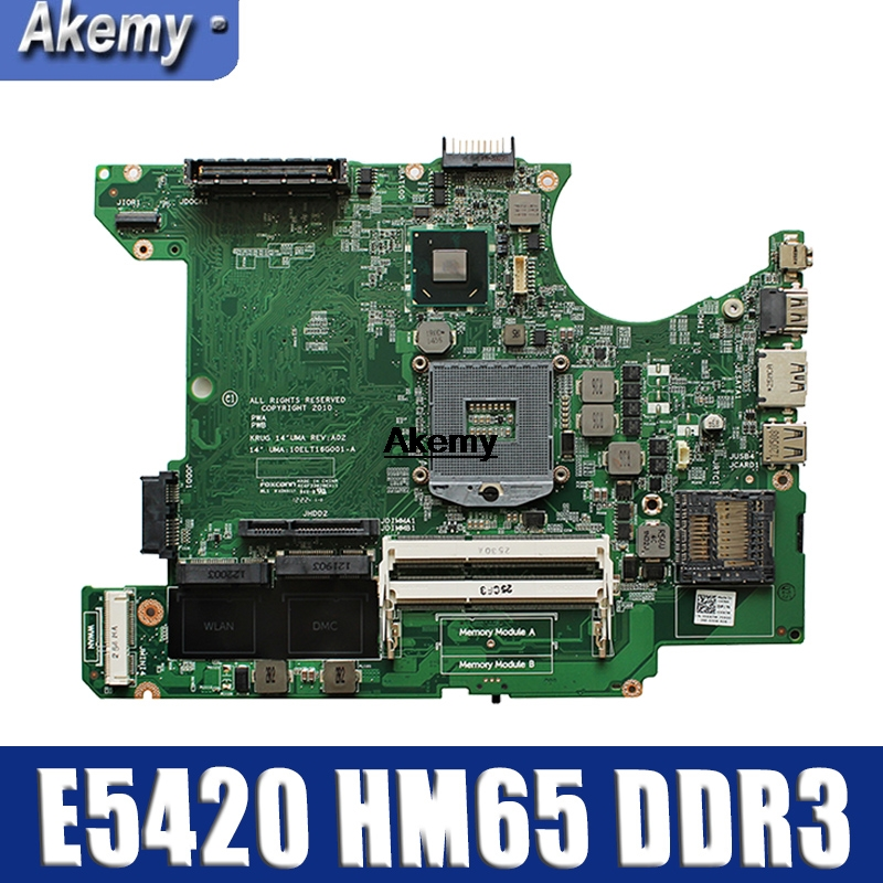 006X7M For DELL Latitude E5420 Laptop Notebook Motherboard 006X7M HM65 DDR3 PGA988B 10ELT16G001-A