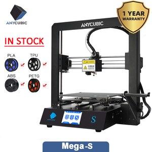 Image 2 - ANYCUBIC Mega S 3d принтер i3 Мега Модернизированный размера плюс TFT сенсорный экран Настольный FDM 3d Принтер Комплект impresora 3d stampante 3d