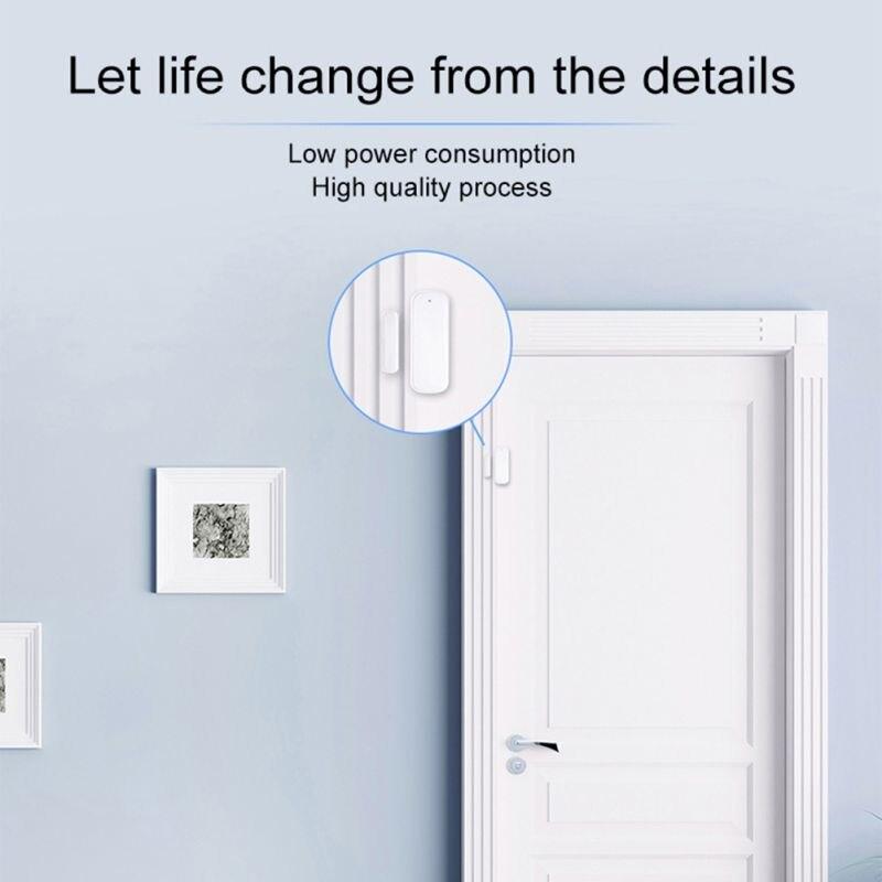 Capteur de fenêtre de porte intelligente 2.4GHz WiFi alarme maison Se cartes mémoire - 5