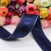 10 ярдов 10 мм/25 мм/38 мм Блестящая серебряная корсажная лента для кромки атласная лента для рукоделия для украшения волос на день рождения YM18011302