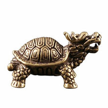 Figurine de tortue Dragon en métal Style géométrique, Sculpture rétro, pour la maison, le bureau, le bureau, cadeau de décoration