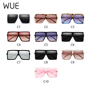 WUE 2019 NEW Fashion Sunglasses Women Square Luxury Brand Big Black Sun Glasses Female Mirror Shades Ladies Lunette Femme Oculos 8