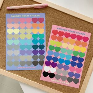 Color Candy Love Label Sticker Waterproof Reusable Sealing Post It Mobile Phone Notebook Creative Decorative Sticker Stationery