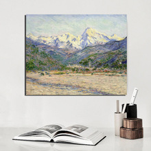 Claude Monet Valley Poster Vintage Canvas Painting Print Living Room Home Decoration Modern Wall Art Oil Painting Poster Picture claude monet japonaise wallpaper canvas painting print living room home decoration modern wall art oil painting posters picture