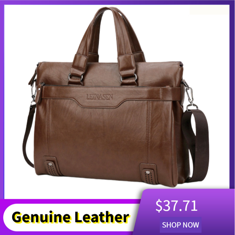 2019 Luxury Genuine Leather Men Briefcase Bag Handbag Business Messenger Men Bag Briefcase Sacoche Homme Laptop Bag