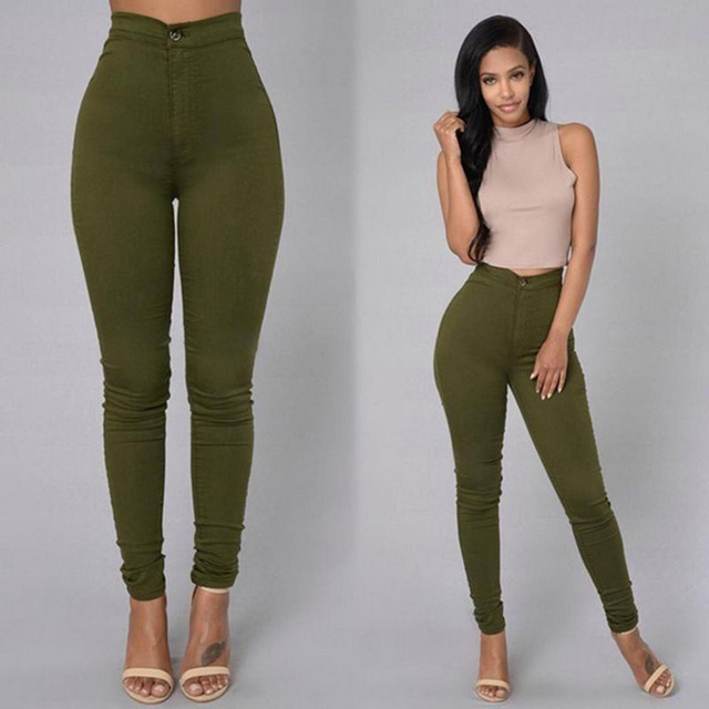 Pencil Jeans Women Stretch Casual Denim Skinny Pants  Ladies Fashionable High Waist Tight Trousers 5 Color Hot 4