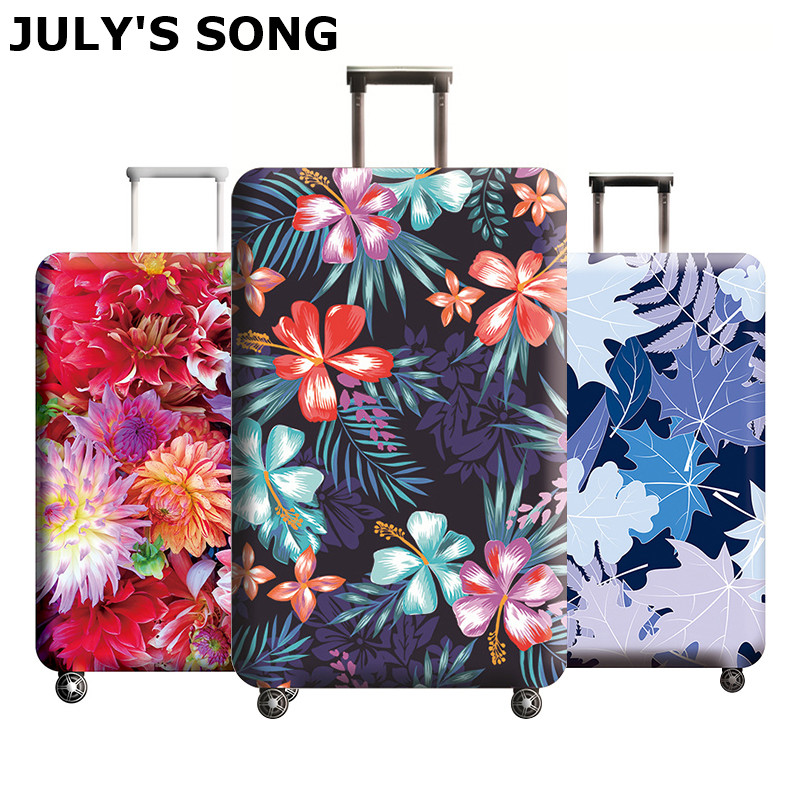 JULY'S SONG Brand Suitcase Elastic Protective Cover Luggage Cover Travel Accessories 18 To 32 Inch Travel Trolley Suitcase Case