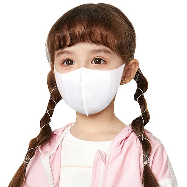 50pcs Disposable 3 Layer Filter Children Mouth Face Mask Dust PM2.5 Masks Breathable Anti-dust Virus Flu Protective Masks 4