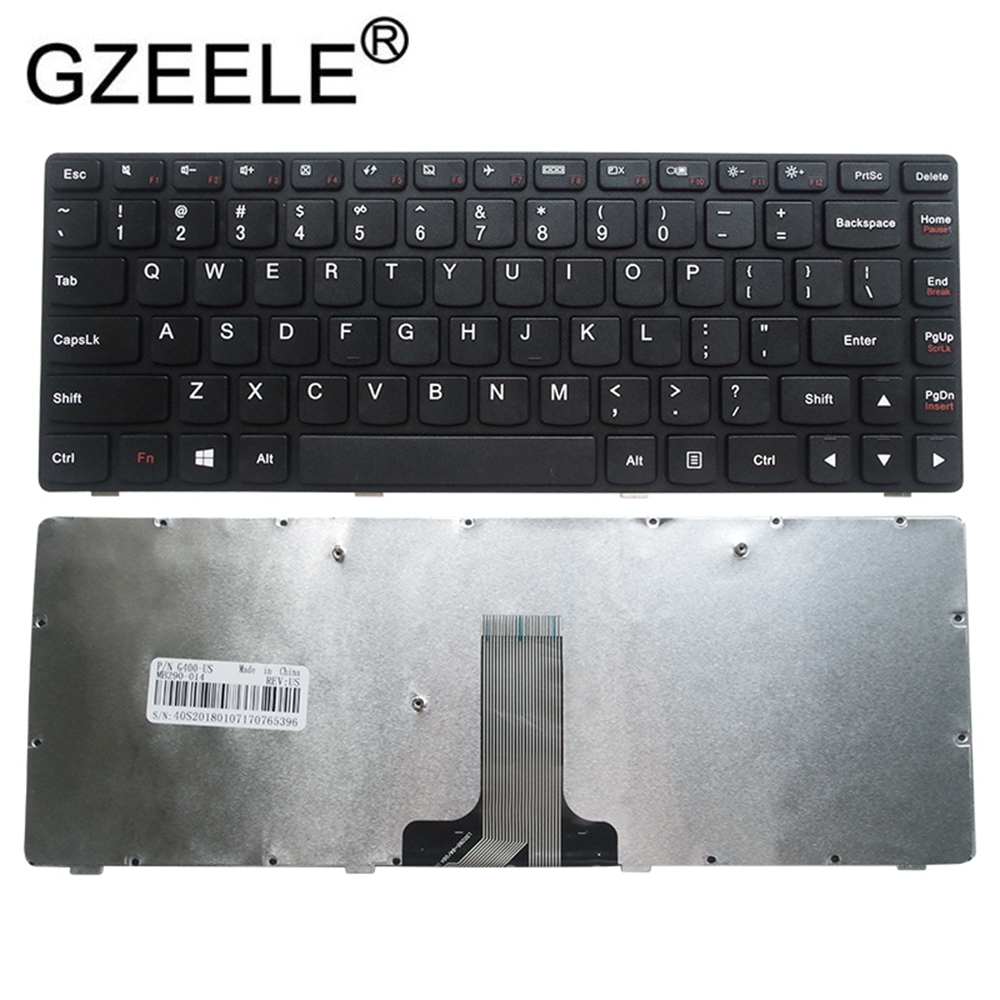 GZEELE laptop accessories US Black English Replace laptop <font><b>keyboard</b></font> For <font><b>Lenovo</b></font> G400 G490 <font><b>G410</b></font> G490AT G410AM G410AT G405 A AM AT image