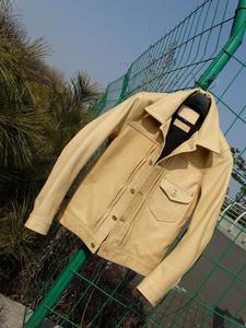 Image 2 - YR! spedizione gratuita. batik di lusso giacca di pelle bovina, classico casuale 506 di stile, Sottile colori Primari cappotto del cuoio genuino, di qualità