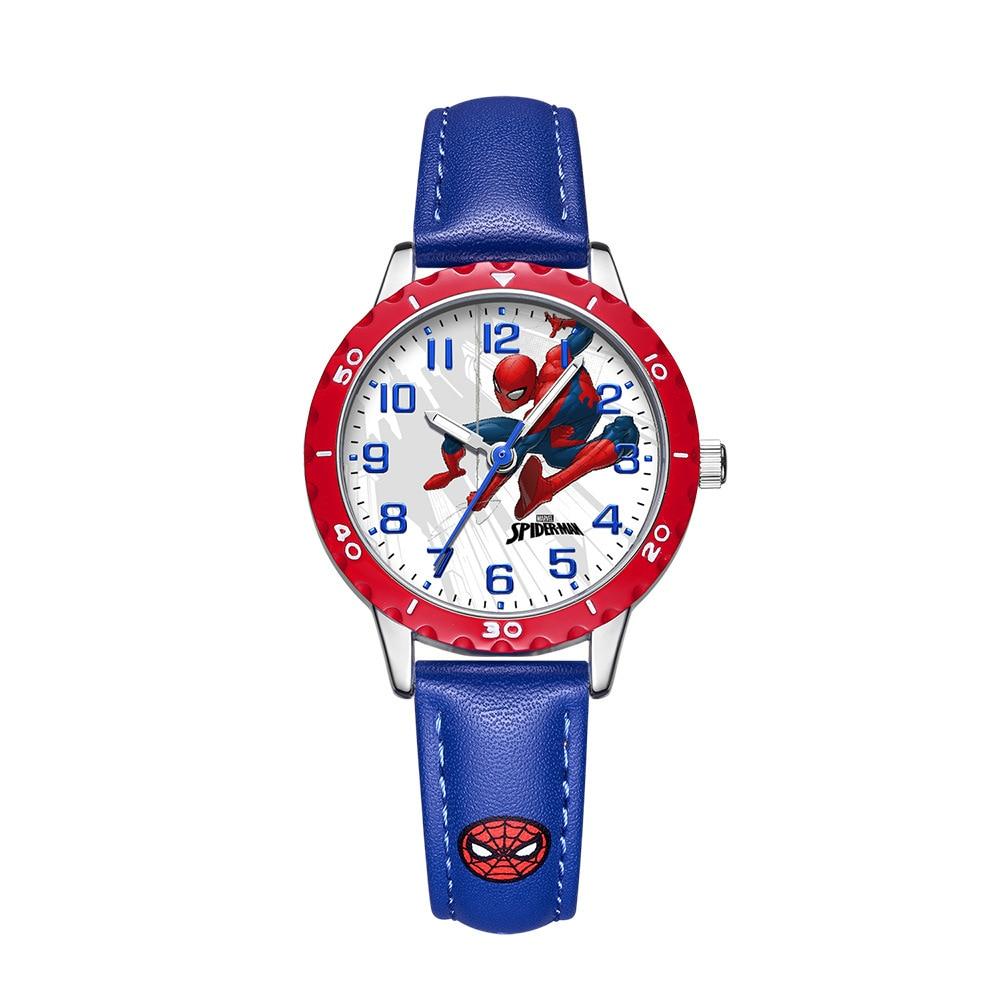 Дисней мультфильм персонаж часы паук человек дети часы американец капитан мультфильм студент кварц часы